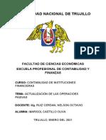 ACTUALIZACIÓN DE LAS OPERACIONES PASIVAS