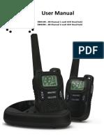 Crystal UHF CB 2-Way radio Dbh10r Dbh20r Manual
