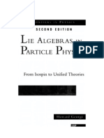 Georgi - Lie algebras in particle physics