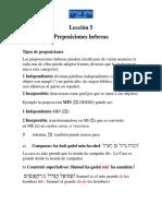 lección 5 preposiciones