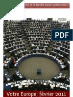 Bilan de la session Février 2011