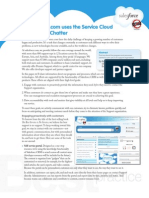 How salesforce.com uses the Service Cloud and Salesforce Chatter