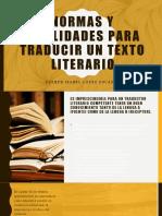 NORMAS Y FINALIDADES PARA TRADUCIR UN TEXTO LITERARIO