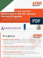 Uganda 2021 Elections Afrobarometer Poll