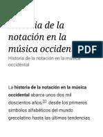 Historia de la notación en la música