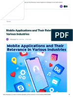 Mobile Applications and Their Relevance in Various Industries