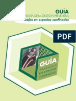 GUÍA PARA LA MEJORA DE LA GESTIÓN PREVENTIVA EN TRABAJOS EN ESPACIOS CONFINADOS