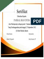 Desain Certificate Template Free Download 15