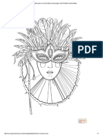 Beautiful Lady in Carnival Mask coloring page _ Free Printable Coloring Pages