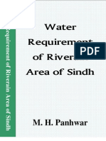 Water Requirement of Riverain Area of Sindh