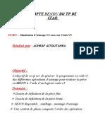 COMPTE RENDU CFAO ACHRAF