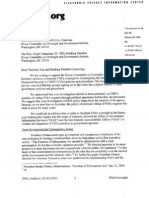 Reps. Issa and Cummings regarding the House Committee's investigation of FOIA practices at DHS