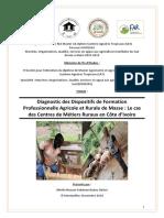 Diagnostic des Dispositifs de Formation Professionnelle Agricole et Rurale de Masse