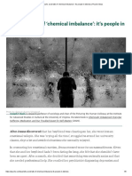 Let's avoid talk of 'chemical imbalance'_ it's people in distress _ Psyche Ideas