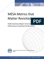 MESA Metrics that Matter Revisited