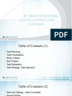 6.Basic Principles for Test Planing and Control
