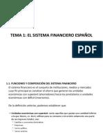 Tema 1 El sistema financiero español