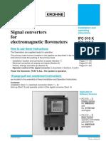 Krohne IFC 010 manual
