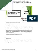 IGNORANTIA JURIS NON EXCUSAT _ LEGAL MAXIM - Our Legal World