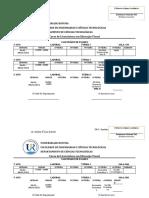 calendario de exames de recorrencia EV 2020