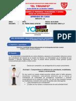 Ficha de Autoaprendizaje DPCC APRENDO EN CASA Pedro Rujel Atoche