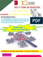 DIFERENCIA ENTRE MUESTREO Y TOMA DE MUESTRA
