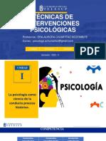 SEMANA 1.NTERVENCIONES PSICOLÓGICAS