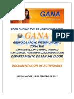 DOCUMENTACIÓN ACTIVIDADES GAIM SUR DEPTO. SAN SALVADOR