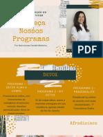 apresentação programas