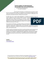 Proyecto Umbral de Inmunizaciones entregó informe final