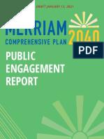Public Engagement Report Draft (January 13, 2021)