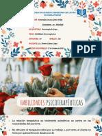 HABILIDADES PSICOTERAPÉUTICAS