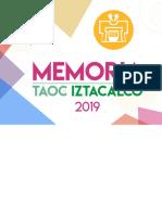 Memoria TAOC Iztacalco 2019
