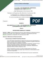 3. Reglamento a la Ley 290. Ley de Organización, Competencia y procedimientos del poder ejecutivo Nicaragua