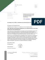 Antwort auf Anfrage GR Werner Straudi (Süd-Tiroler Freiheit) - Anwaltspesen der Gemeinde Bruneck 2010-2019
