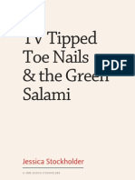 TV Tipped Toe Nails & the Green Salami