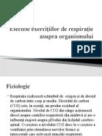 Efectele exercitiilor de respiratie asupra organismului