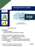 Management de la qualité  - 2016
