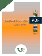 Statistiche sulle fonti rinnovabili in Italia - Anno 2006