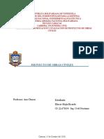 (UNIDAD 1) PLANIFICACION Y EVALUACION DE PROYECTOS DE OBRAS CIVILES