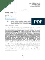 Diaz cease-and-desist letter