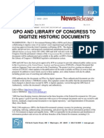 GPO and Library of Congress to Digitize Historic Documents