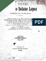 Tapia, Francisco. El Tirano Francisco Solano Lopez