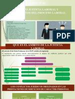 AMBITO DE LA JUSTICIA LABORAL Y FUNDAMENTOS DEL PROCERSO LABORAL. GRUPO 7