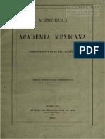 Actas memoria de la academia mexicana. Tomo 2. 1889.pdf