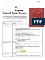 romeoandjuliet reading schedule