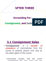 accounting for cosignment and installement