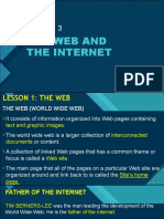 THE WEB AND THE INTERNET