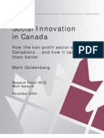 Social Innovation in Canada