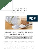 ODEUR VAGINALE AVANT OU APRÈS LE RAPPORT SEXUEL. ⋆ Savoir Vivre Spiritualité.pdf